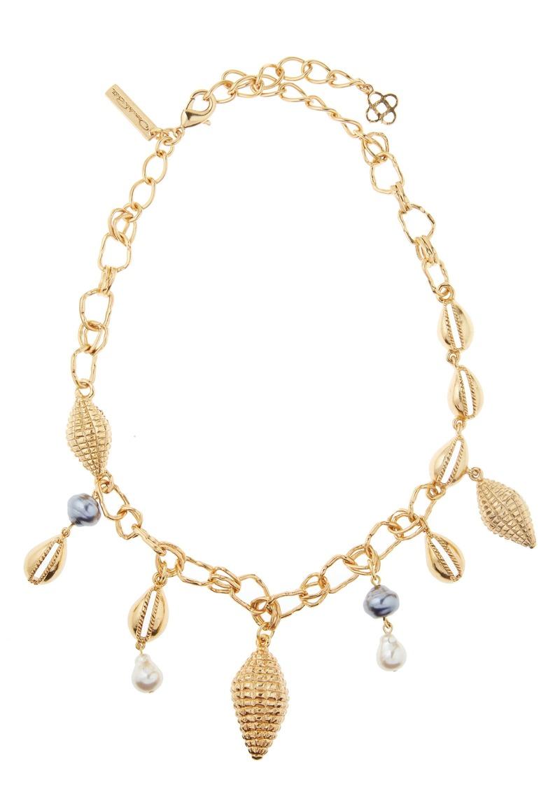 Oscar de la Renta Shell Charm Necklace