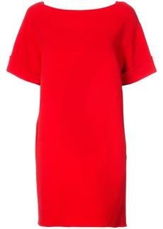 Oscar de la Renta shift dress with back tie - Red