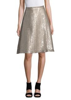 Oscar de la Renta Shimmering A-Line Skirt
