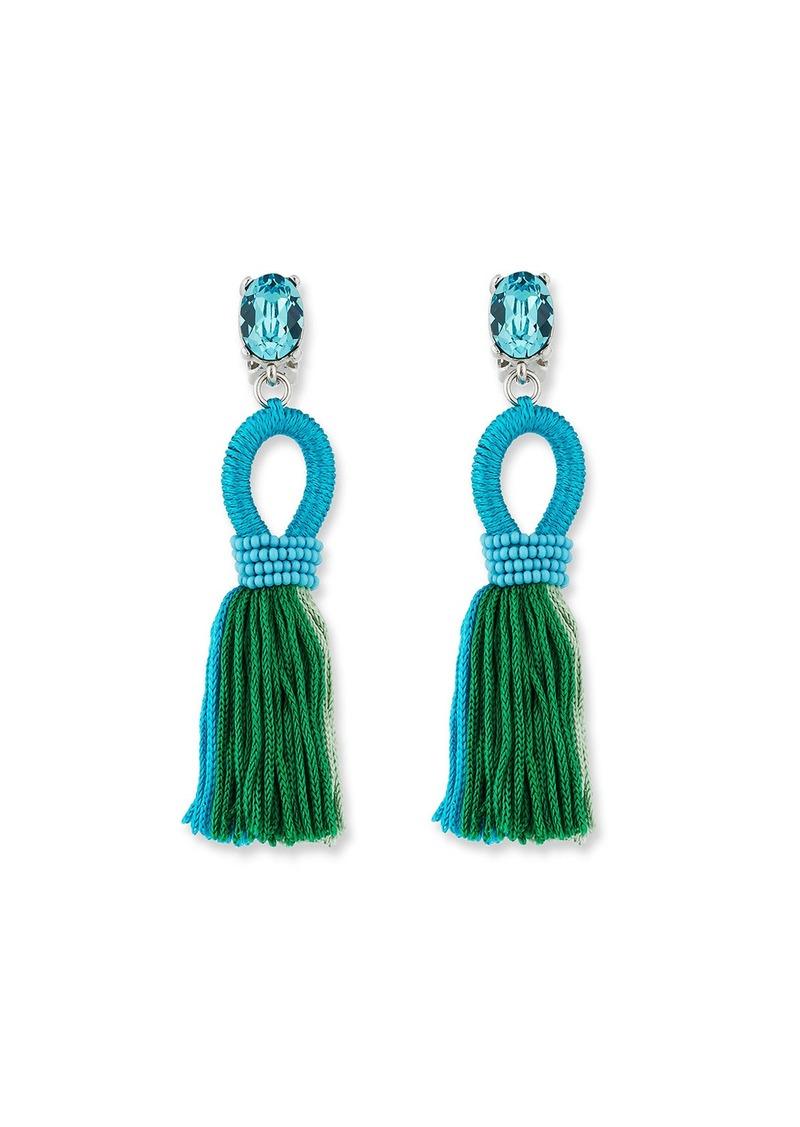 Oscar de la Renta Short Gradient Looped Tassel Earrings