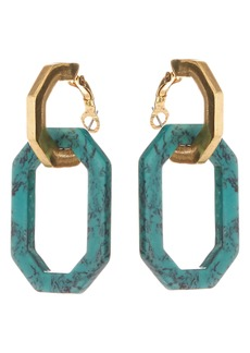 Oscar de la Renta Short Octagon Earrings