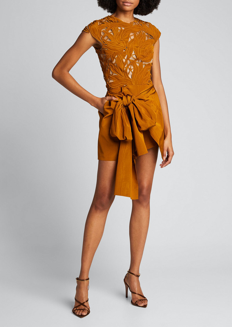 Oscar de la Renta Shorts with Overskirt And Bow