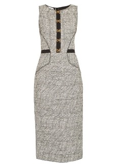 Oscar De La Renta Sleeveless bouclé-tweed pencil dress