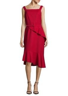 Oscar de la Renta Sleeveless Cherry Dress