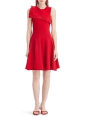Oscar de la Renta Sleeveless Draped A-Line Sweater Dress