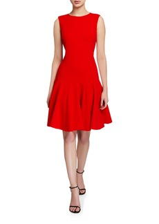 Oscar de la Renta Sleeveless Fit-and-Flare Sleeveless Day Dress