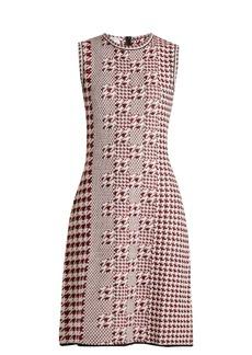 Oscar De La Renta Sleeveless intarsia-knit wool dress