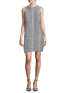 Oscar de la Renta Sleeveless Knit Shift Dress
