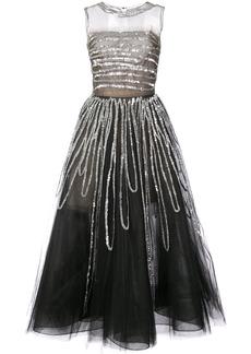 Oscar de la Renta sleeveless sequin embroidered gown - Black