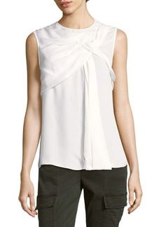 Oscar de la Renta Sleeveless Silk Top