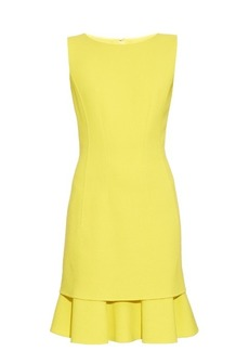 Oscar De La Renta Sleeveless tiered-hem dress