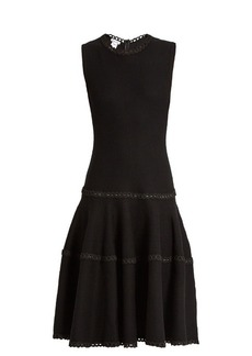 Oscar De La Renta Sleeveless wool and silk-blend dress