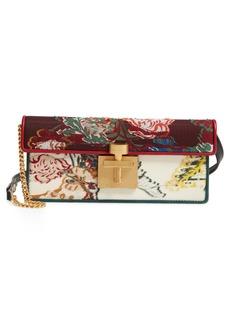 Oscar de la Renta Slim Alibi Tapestry Shoulder Bag