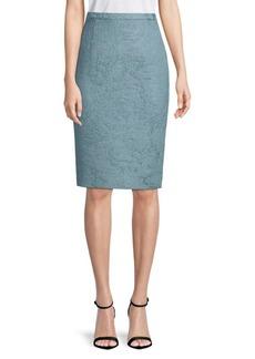 Oscar de la Renta Slim-Fit High-Rise Pencil Skirt