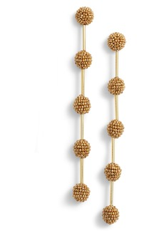 Oscar de la Renta Small Beaded Drop Earrings