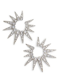 Oscar de la Renta Small Crystal Sea Urchin Earrings