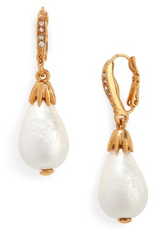Oscar de la Renta Small Imitation Pearl Drop Earrings