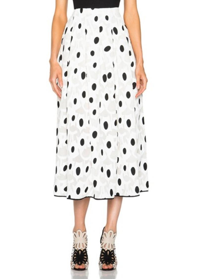 Oscar de la Renta Spot Print Full Skirt
