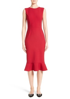 Oscar de la Renta Stretch Crepe Sheath Dress
