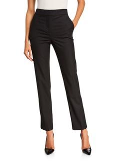 Oscar de la Renta Stretch-Wool Straight-Leg Suit Pants