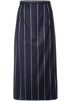 Oscar de la Renta striped midi skirt - Blue