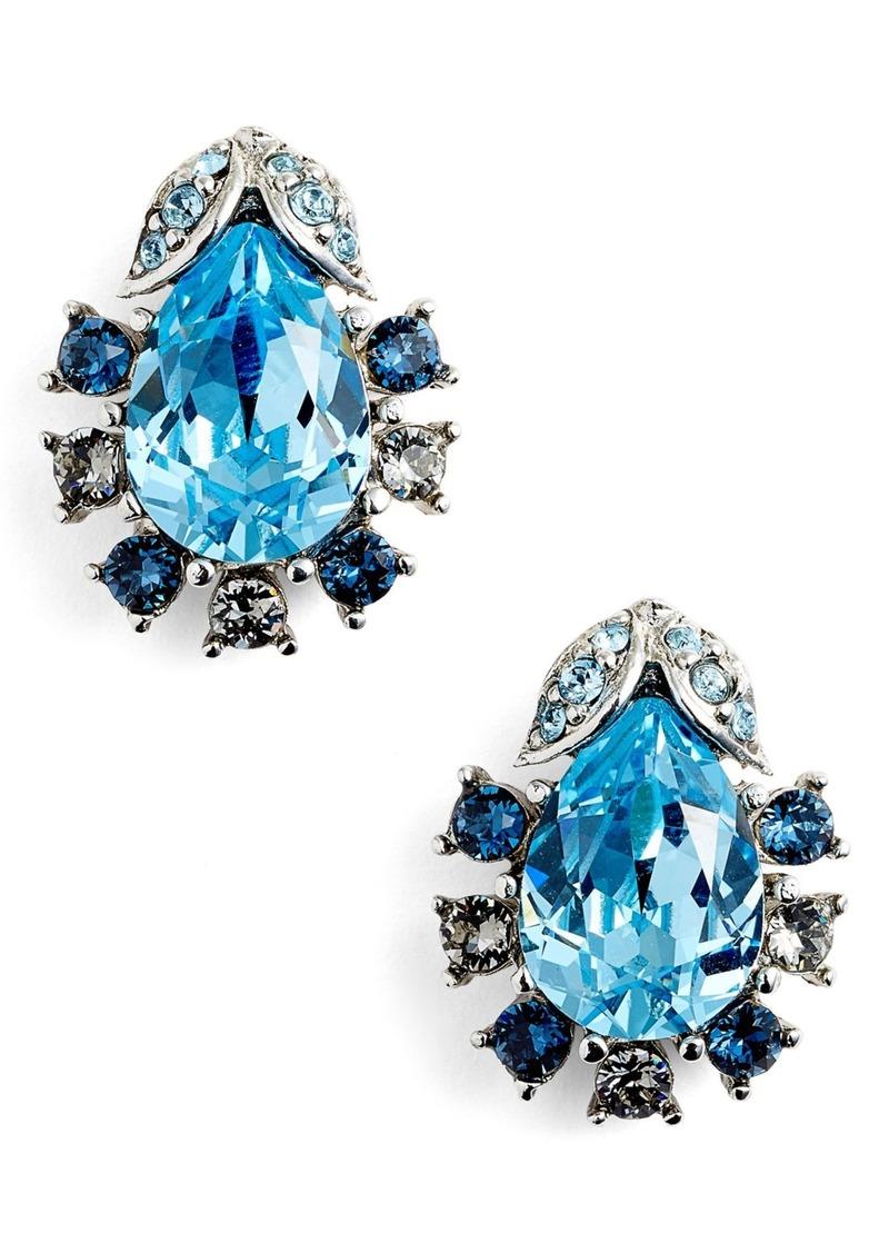 Oscar de la Renta Swarovski Crystal Stud Earrings