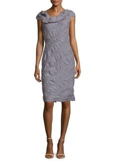 Oscar de la Renta Textured Check Dress
