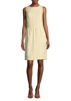 Oscar de la Renta Textured Fit-&-Flare Dress