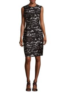 Oscar de la Renta Textured Sleeveless Dress