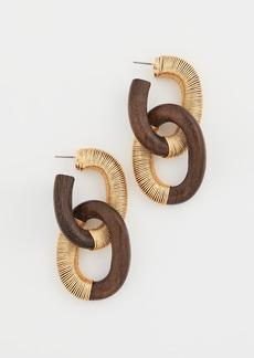 Oscar de la Renta Thread Link Earrings