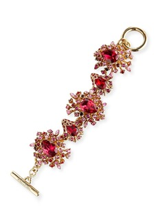 Oscar de la Renta Tiered Crystal Toggle Bracelet