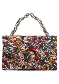 Oscar de la Renta Tro Floral Fil Coupé Bag