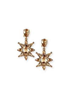 Oscar de la Renta Tropical Bloom Crystal Drop Earrings