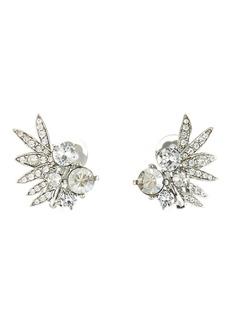 Oscar de la Renta Tropical Palm Stud Earrings