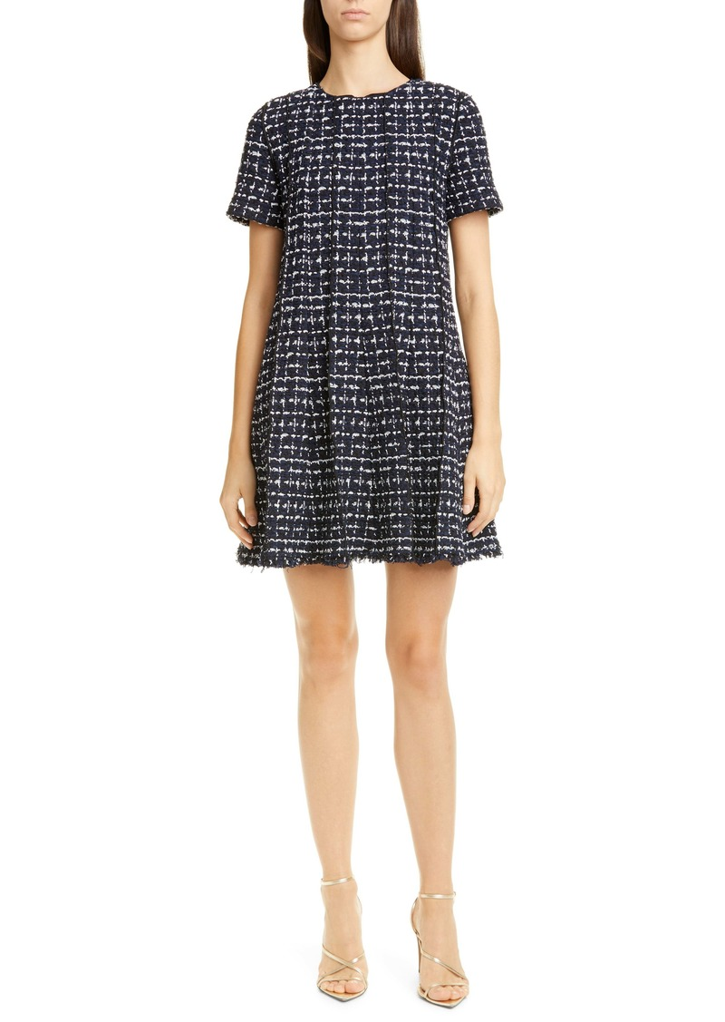 Oscar de la Renta Tweed Trapeze Minidress