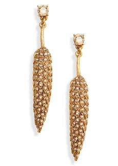 Oscar de la Renta Wildflower Linear Earrings