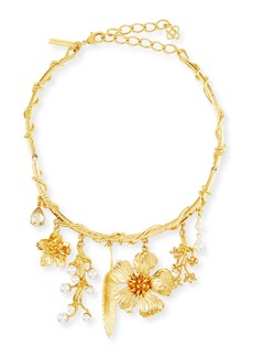 Oscar de la Renta Wildflower Necklace w/ Dangles
