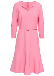 Oscar De La Renta Woman Belted Wool-blend Dress Baby Pink