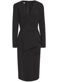 Oscar De La Renta Woman Belted Wool-blend Dress Black