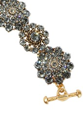 Oscar De La Renta Woman Burnished Gold-tone Crystal Bracelet Gold