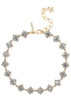 Oscar De La Renta Woman Burnished Gold-tone Crystal Necklace Gold