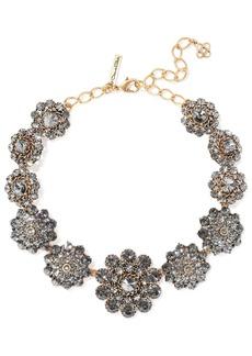 Oscar De La Renta Woman Burnished Gold-tone Crystal Necklace Gold