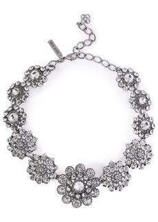Oscar De La Renta Woman Burnished Gold-tone Crystal Necklace Silver