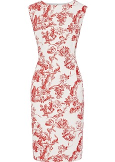 Oscar De La Renta Woman Cotton-blend Jacquard Dress Red
