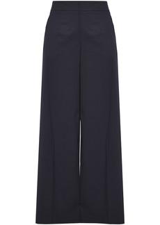 Oscar De La Renta Woman Cotton-blend Twill Wide-leg Pants Navy