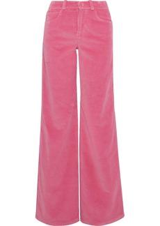Oscar De La Renta Woman Cotton-corduroy Wide-leg Pants Baby Pink
