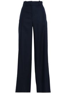 Oscar De La Renta Woman Cotton-twill Wide-leg Pants Navy