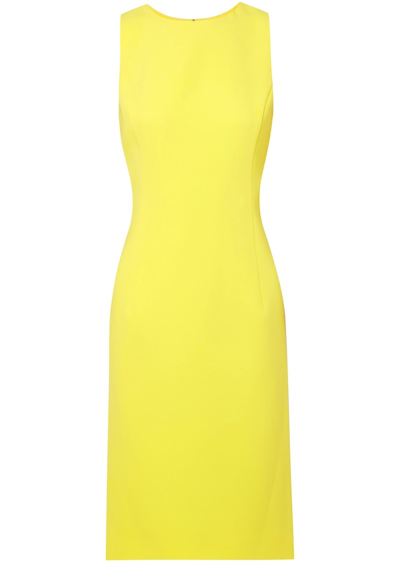 Oscar De La Renta Woman Crepe Dress Yellow