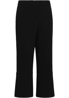 Oscar De La Renta Woman Cropped Crepe Wide-leg Pants Black