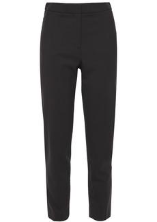 Oscar De La Renta Woman Cropped Stretch-wool Twill Slim-leg Pants Black